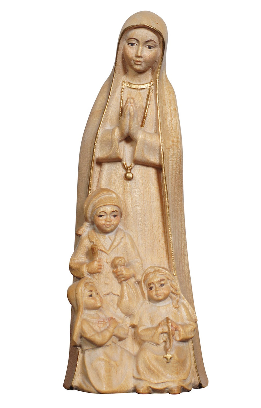 Our Lady of Fatima with Shepherds Children Figurine (Modern)