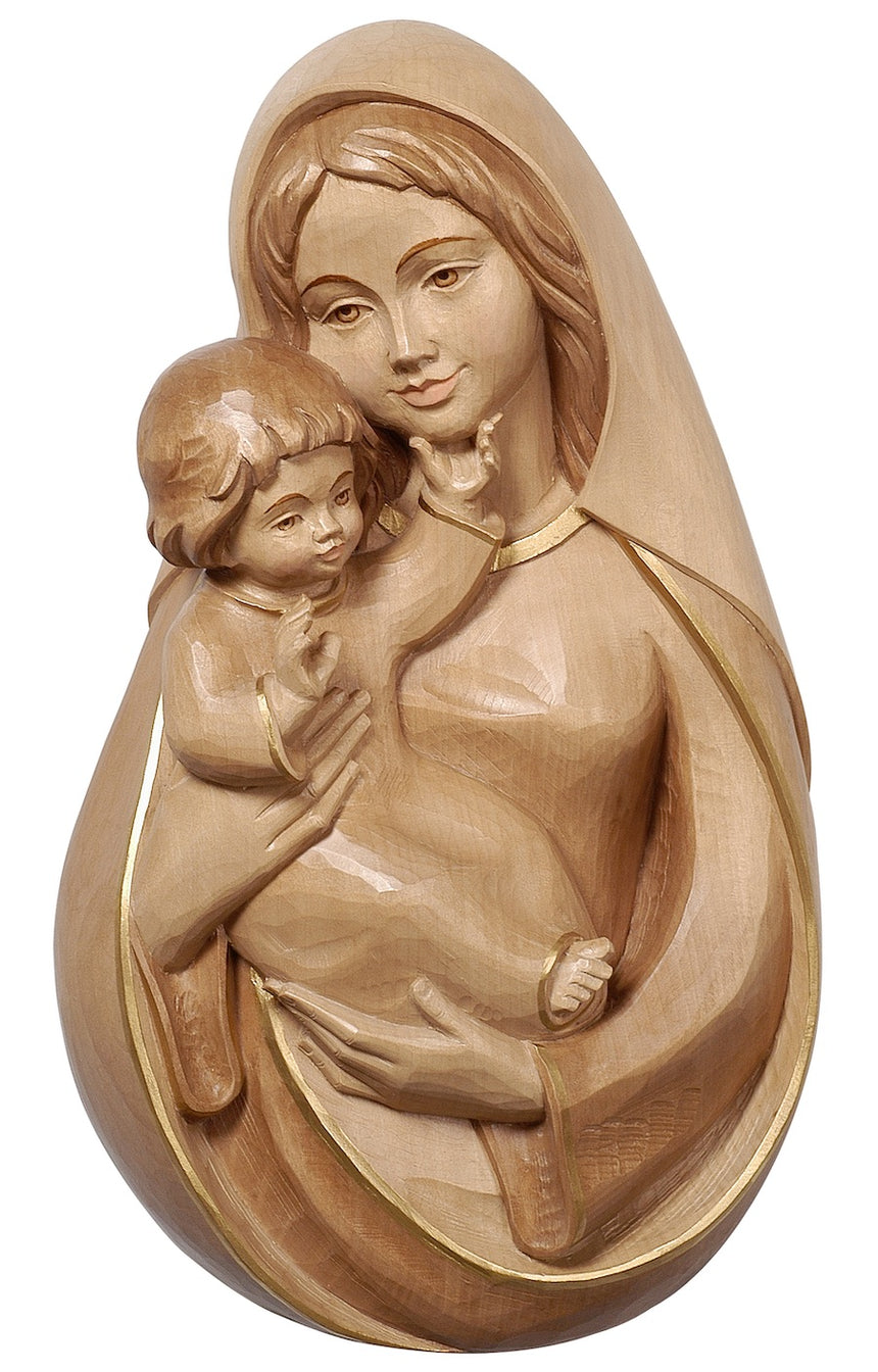 Pema Madonna with Child Relief Wall Statue