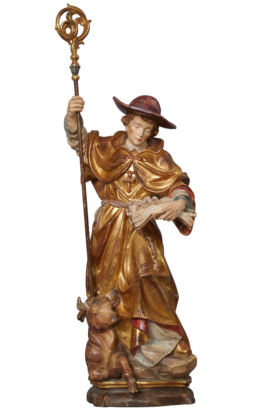 Saint Leonard with Steer or Horse Statue