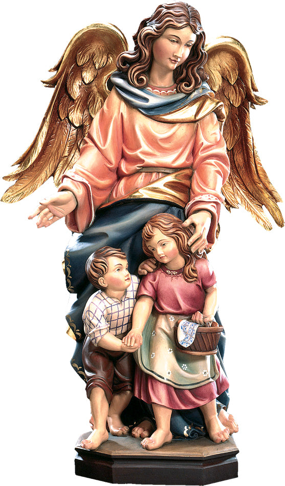 Guardian Angel With Two Children Figurine