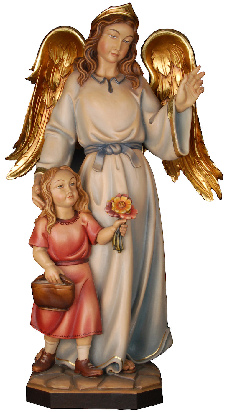 Guardian Angel With Girl Figurine