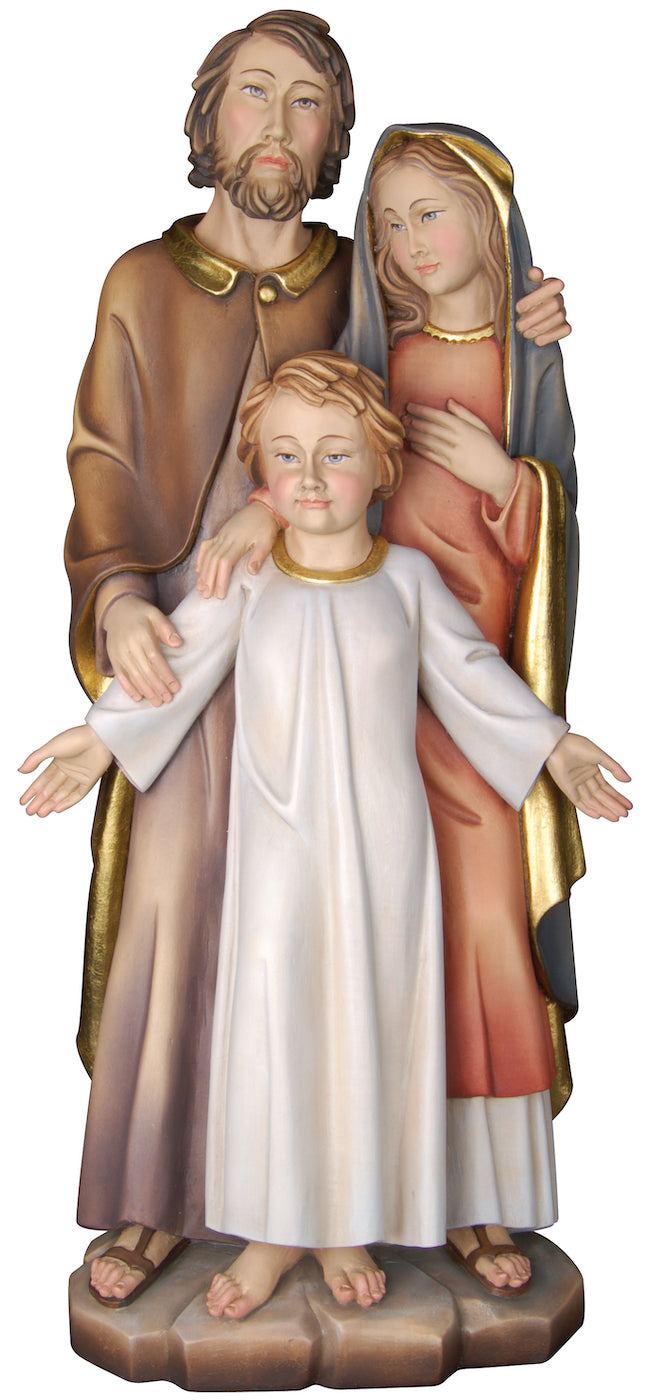 Holy Family With Jesus Oldster Simple Figurine