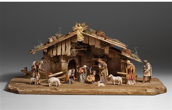 Kostner Nativity Scene with large stable (13 Figs.)