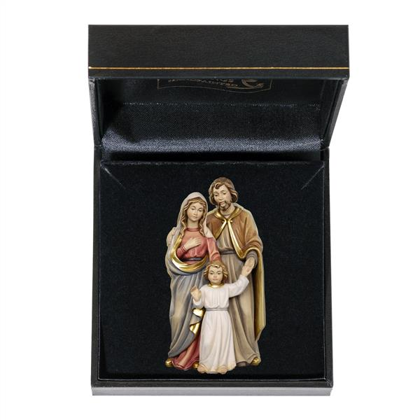 Holy Family with Boy Jesus Figurine in Gift Case