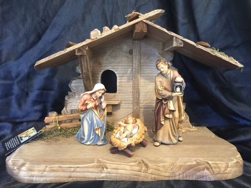 Kostner Nativity Scene Holy Family with small Stable