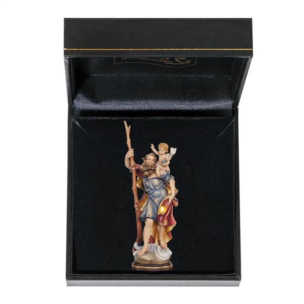 Miniature Saint Christopher carrying Jesus Figurine in Gift Box