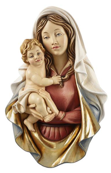 Madonna Raffaelo with Child Relief Wall Statue