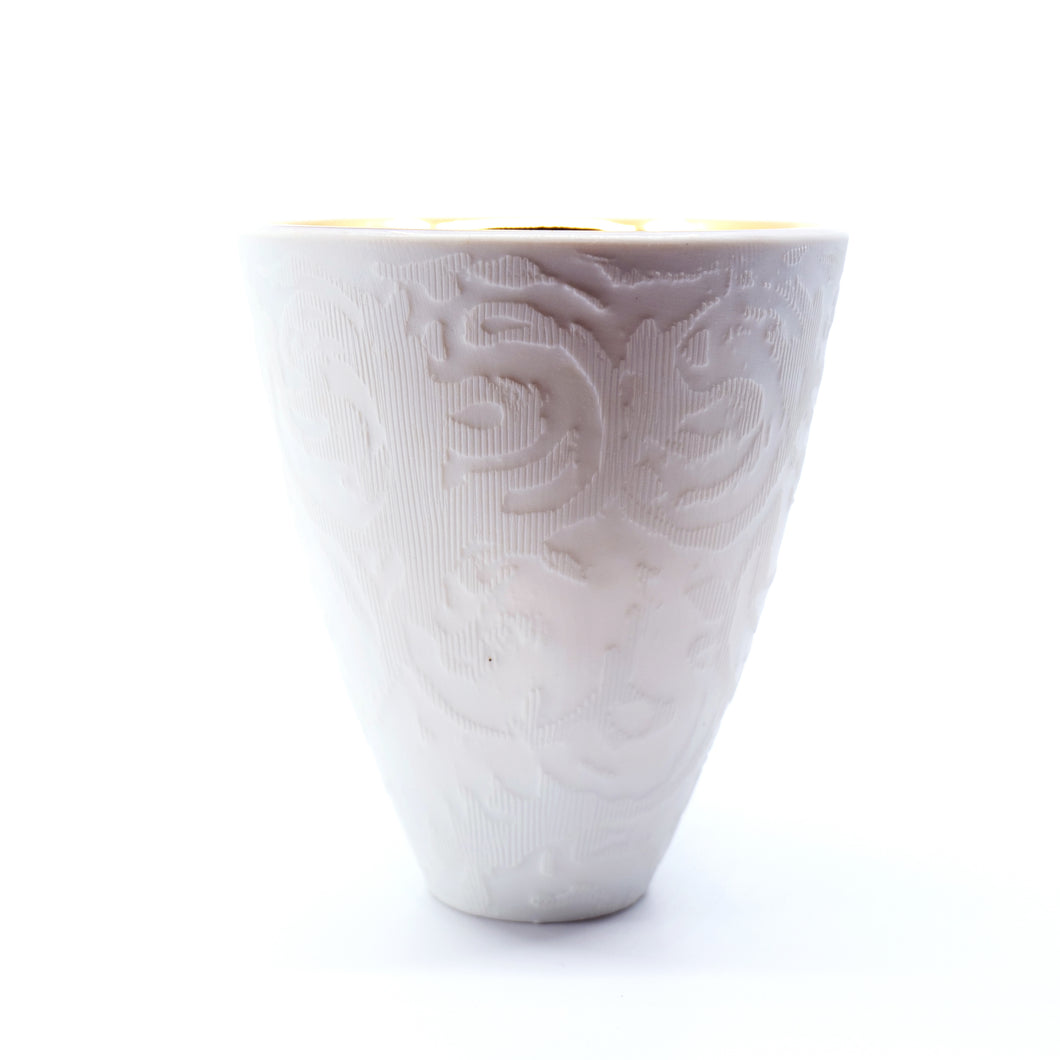 Dallas Wooten- White & Gold Etched Cup