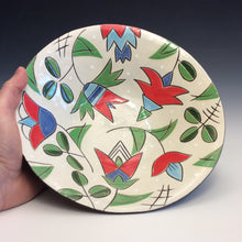 Load image into Gallery viewer, Colleen McCall- Wide Bowl w/ Tulip Pattern