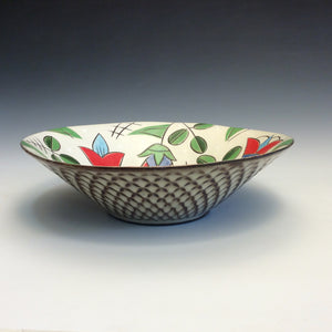 Colleen McCall- Wide Bowl w/ Tulip Pattern