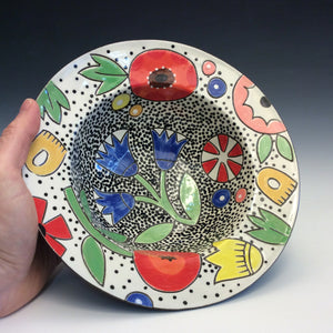 Colleen McCall- Rimmed Spaceflower Bowl