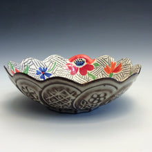 Load image into Gallery viewer, Colleen McCall- Scallop Red & Blue Bowl