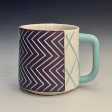 Load image into Gallery viewer, Kelly Justice- Purple & Turquoise Mug