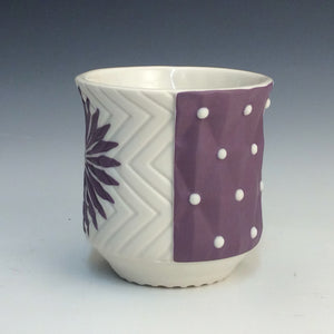 Kelly Justice- Flared Cup w/ purple