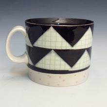 Load image into Gallery viewer, Rachel Donner- B&W Triangle Mug
