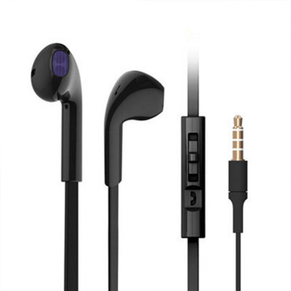 Black Earbud Headphones