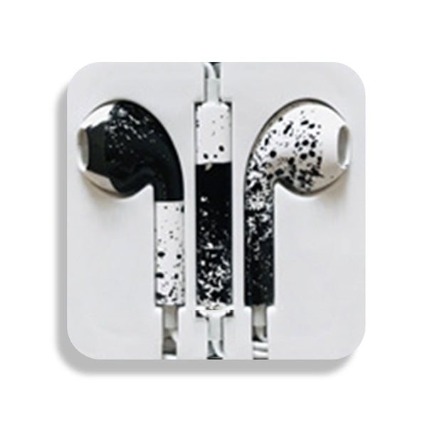 Black & White Earbud Headphones