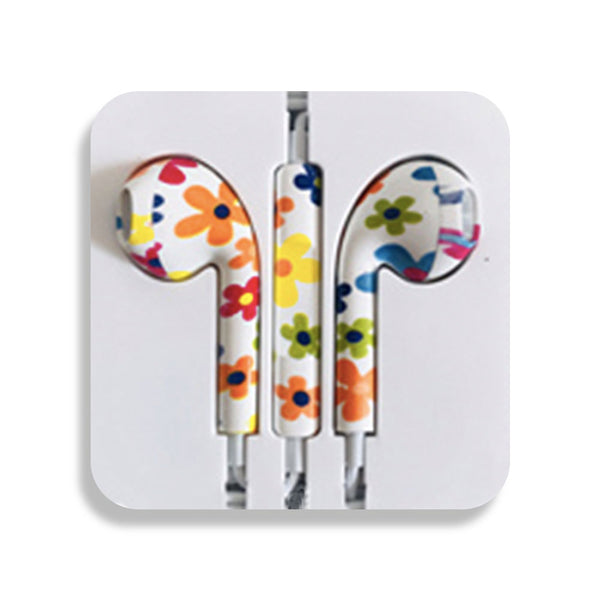Flowers Earbud Headphones