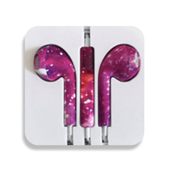 Purple Sky Earbud Headphones