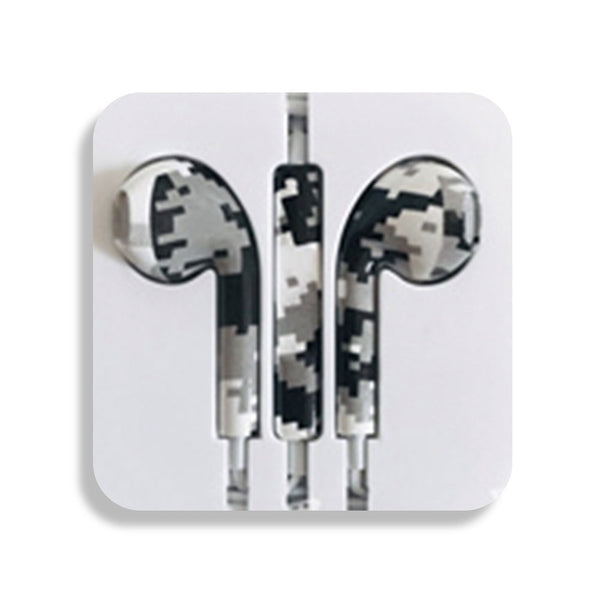 Grey Square Earbud Headphones