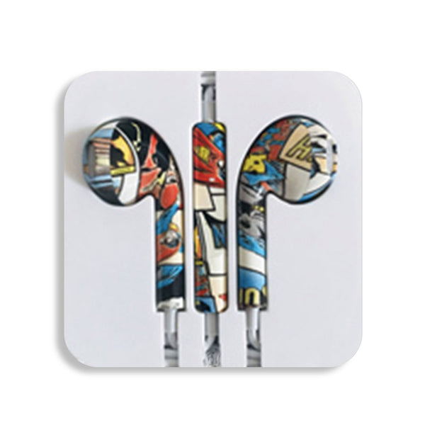 Comics Earbud Headphones