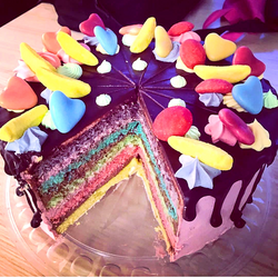 Chocolate rainbow buttercream