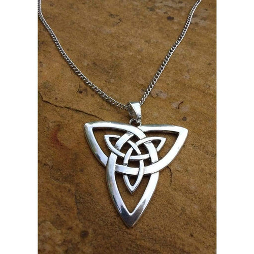 Celtic Knot Pendant Large Funky necklace and chain - Off The Wall Accessories