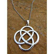 Load image into Gallery viewer, Celtic Knot Pendant Silver Large, Funky necklace and chain - Off The Wall Accessories