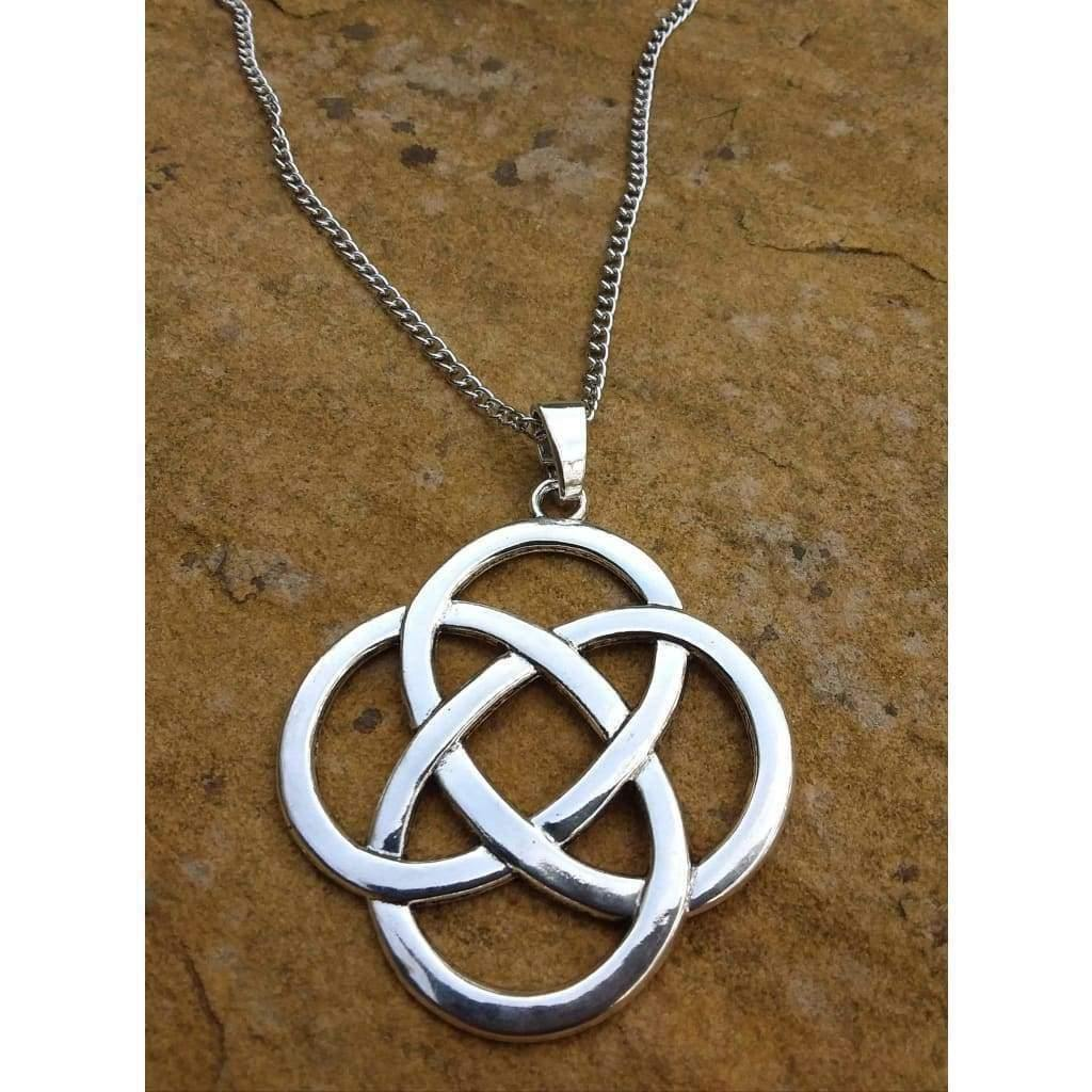 Celtic Knot Pendant Silver Large, Funky necklace and chain - Off The Wall Accessories