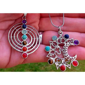 Healing Chakra pendant/necklace Healing Chakra pendant/necklace on silver tone chain Off The Wall Accessories