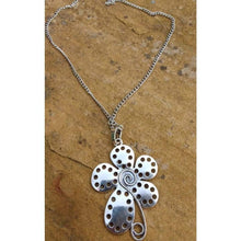 Load image into Gallery viewer, Funky Pendant Spiral Flower necklace and chain - Off The Wall Accessories