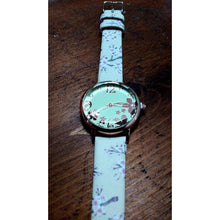 Load image into Gallery viewer, Pretty, quirky, boho watch. Rose gold dial and numbers on grey, cream or black strap. - Off The Wall Accessories