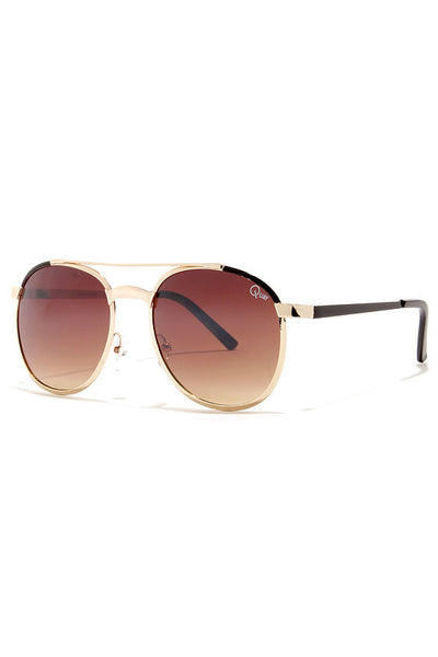 QUAY SUNDANCE SUNGLASSES - BROWN