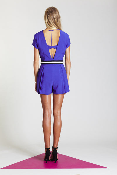 THREE OF SOMETHING CHRYSTALISED PLAYSUIT