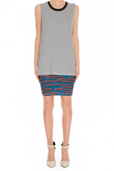 STAY WITH ME SINGLET TOP - STRIPE