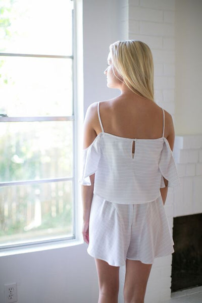 THE FIFTH LABEL DAYLIGHT PLAYSUIT - WHITE
