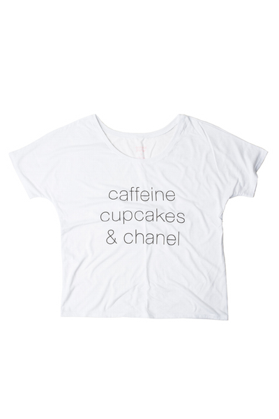 CAFFEINE CUPCAKES AND CHANEL TEE