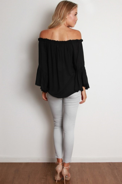 DESERT WANDERER TOP - BLACK
