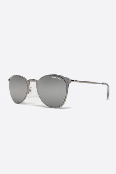 QUAY X SHAY 2 DOMINO SILVER MIRROR SUNGLASSES
