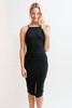 THE FIFTH LABEL DON'T PANIC MIDI DRESS - BLACK