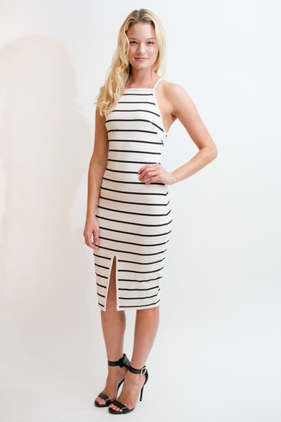 THE FIFTH LABEL DON'T PANIC MIDI DRESS