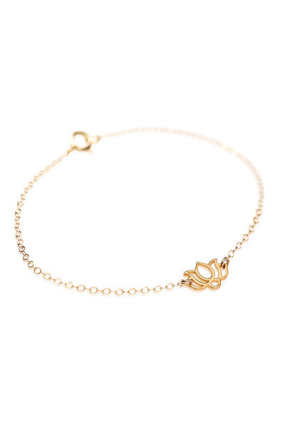 LOTUS BRACELET - GOLD OR SILVER