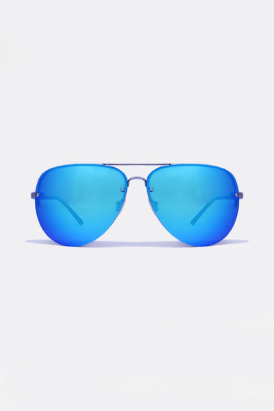 QUAY X AMANDA STEELE MUSE SUNGLASSES - BLUE