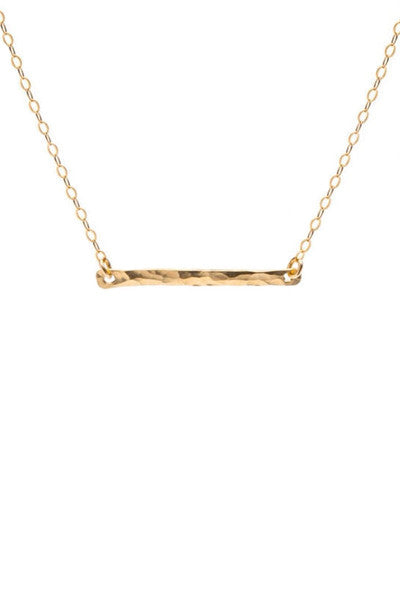 HAMMERED BAR NECKLACE