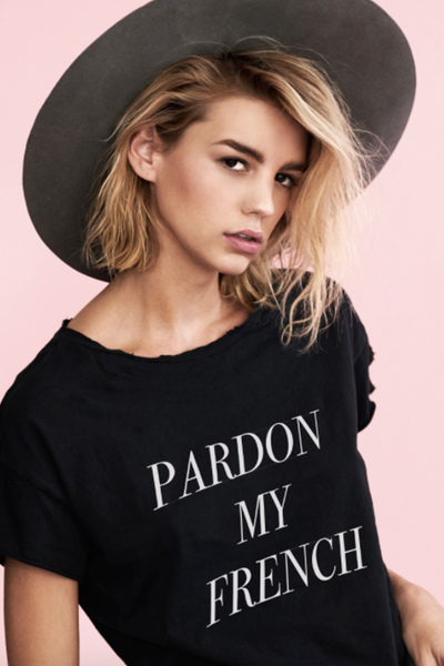 stylestalker pardon my french tshirt melvina boutique. Black Bedroom Furniture Sets. Home Design Ideas