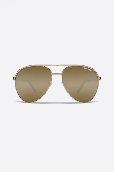 QUAY X SHAY 2 VIVIENNE GOLD MIRROR SUNGLASSES