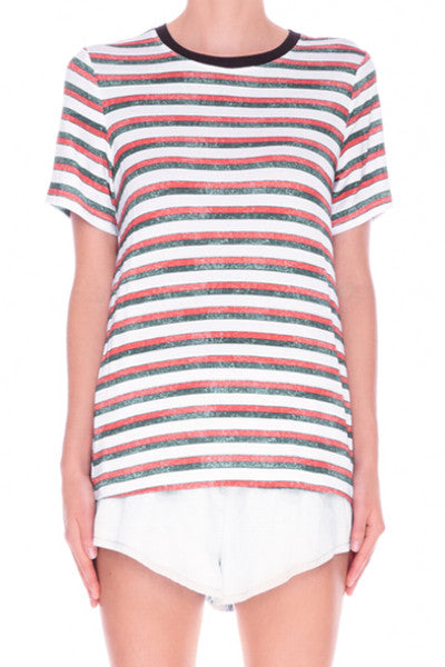 THE FIFTH LABEL HARD TO BEAT TSHIRT VINTAGE STRIPE