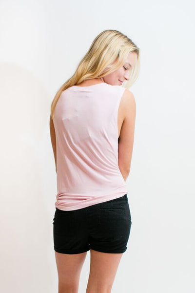 STAY WITH ME SINGLET TOP - LIGHT PINK