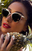 QUAY X SHAY MITCHELL TILLY GOLD SUNGLASSES
