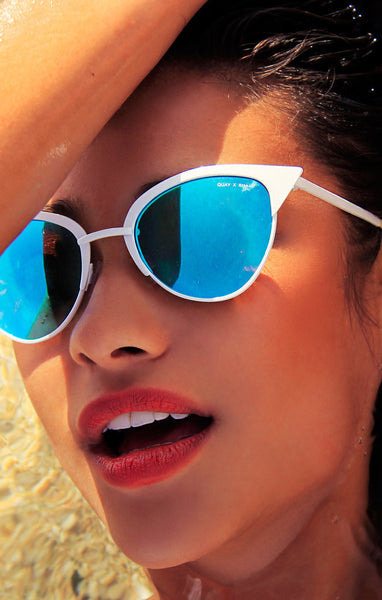 QUAY X SHAY MITCHELL TILLY WHITE SUNGLASSES